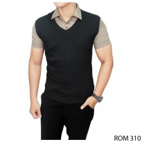 Vest For Mens Suit Rajut Hitam – ROM 310