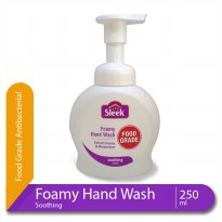 Sleek Foamy Hand Wash Soothing Botol 250 mL Kino Sabun Pembersih Tangan Natural Food Grade
