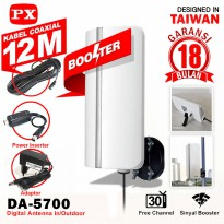 Antena TV Indoor Outdoor PX DA-5700 Digital TV DVB-T2 dengan Booster & Power Inserter