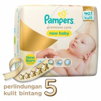 Pampers Popok Premium Care Taped NB 28 Karton isi 8