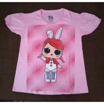 Kaos anak LOL Surprise Pink Polkadot