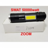 Senter mini ZOOM SWAT 50000 watt