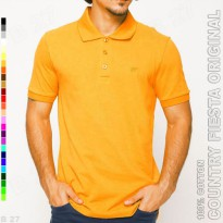 COUNTRY FIESTA Original P2-20 Kaos Polo Shirt Pria Cotton Orange