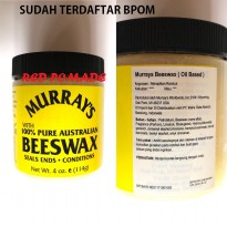 POMADE MURRAY MURRAYS PURE BEESWAX 4 OZ OILBASED OIL BASED SUDAH BPOM + FREE SISIR