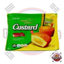 Lotte Cream Cake Custard - Spongy Soft Cakes Filled With Rich Custard Cream 253g
