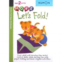 [HelloPanda] Kumon First Steps Workbooks MORE LET'S FOLD! (Ages 2 and Up)