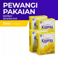 Kispray Dus Pouch Segeris 21Ml - 4 Dus