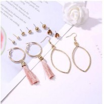 Oila Anting set 6 pasang love rose tassel / set earrings jan203