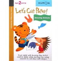 [HelloPanda] Kumon First Steps Workbooks LET'S CUT PAPER! AMAZING ANIMALS (Ages 2 and Up)