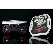 Mini Roller Skateboard Drift Two Roller Skateboard Plate Sepatu Roda