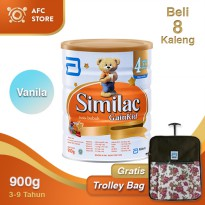 Similac GainKid Vanila 900gr 8 kaleng + Trolley