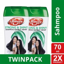 TWIN PACK - LIFEBUOY SHAMPOO STRONG & SHINY 70ML