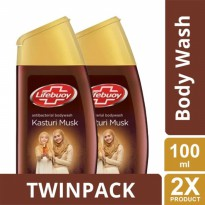 TWIN PACK - Lifebuoy Sabun Cair Kasturi Musk Botol 100ml