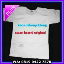 (Dijamin) Kaos Dalam Oblong T-Shirt SWAN br.aND Size 34 36 38 40 42