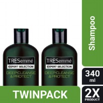 TWIN PACK - TRESemme Shampoo Deep Cleanse & Protect 340ML