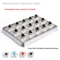 [globalbuy] Mechanical switch cyan red tea black shaft for Mechanical keyboard shaft trans/4153301