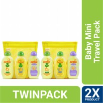 TWIN PACK - ZWITSAL BABY MINI TRAVEL PACK