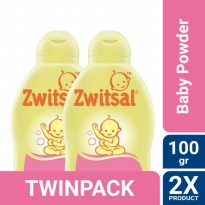 TWIN PACK - Zwitsal Baby Powder Classic Fresh Floral 100gr