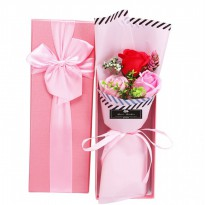 Valentine's Day Rose Soap Flower 3 Bouquet - HO5424W
