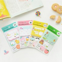Recording Marker Sticky Notes Post-Its - Label Note It Kertas Tulis Tempel Catatan Lucu Unik Imut