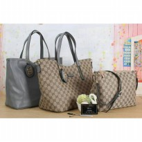 The Elegant Woman Bag / One Set / Two Side - Grey