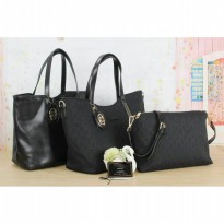 The Elegant Woman Bag / One Set / Two Side - Black