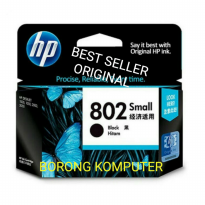HP Tinta 802 Black Original Ink Cartridge - Hitam