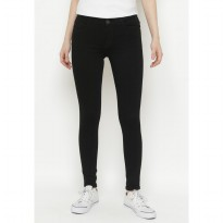 Mobile Power Ladies  Long Pants Mama size Jeans - Black JN5913