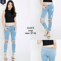 Ukuran 31-34 Alice Crop Destroy