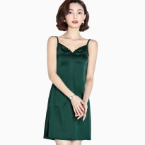 Dress Camisoles sexy Saten Tali kecil Wanita Gaya Korea - Jfashion Mio