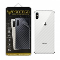 Back Protector iPhone XS Max Protego - Carbon Clear