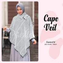 CAPE VEIL PRICILLA SW 4 (abu muda) Dua Warna Sweater Mu