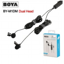 Dual Clip-On Microphone BOYA BY-M1DM  for DSLR Camera Smartphone