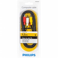 Philips Composite A/V Cable SWV2532W/10 Kabel Audio RCA 3 to RCA 3 1.5