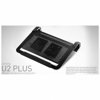 Cooler Master Notepal U2 Plus Movable Fan Aluminium Cooling Pad Hitam