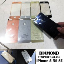3D Diamond Tempered Glass Front Back iPhone 5 - 5S - SE - C