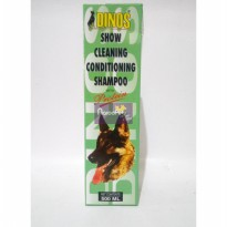 Shampoo Anjing Dinos Show Cleaning Conditioning With Protein 500ml