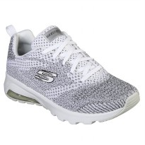Sepatu Olahraga Gym Senam Fitness Skechers Air Extreme Women's Shoes- White 12921WBK