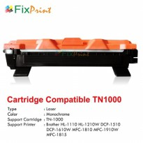 Toner Compatible Brother TN1000 TN-1000 HL1110 HL-1210W DCP-1510