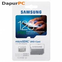 Samsung MicroSDXC Pro Memory 128GB Class 10 USH-1 with SD Adapter