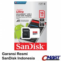 SanDisk Ultra micro SD 16GB 98MB/S micro SDHC - SDSQUAR-016GGN6M