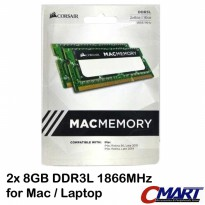 Corsair 16GB DDR3L 1866 MHz Mac Memory Laptop - CMSA16GX3M2C1866C11