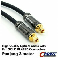 Howell Kabel Fiber Optic 3m Audio Cable Optical Optik - AVOPMM-300HQ