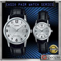 Jam Tangan Couple Casio Couple Tali Kulit Original MTP LTP-V002L-7B