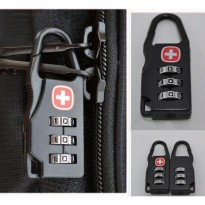 Gembok Kunci Koper padlock Travel Bag swiss gear army keychain Lock