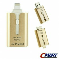 PNY OTG 64GB Apple iPhone iPad FlashDisk Flasdisk - PFDI64GOTGAM63