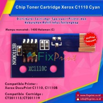 Chip Xerox C1110 Cyan, Chip Reset Toner Cartridge Xerox C1110 Cyan