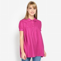 Mobile Power Ladies Babydoll Blouse - Purple Pinkish G8360