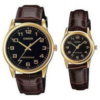 Jam Tangan Couple Casio Couple Casio Original V001gl-1 Harga Sepasang