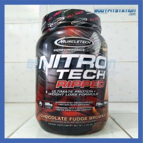 MuscleTech Nitro Tech Ripped 2 Lbs Chocolate Fudge Brownie - 2lb 2lbs cutting diet fat fatburn fatloss iso isolate lb loss nitrotech susu suplemen whey
